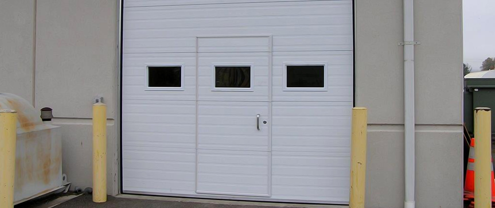 commercial grooved panel - Garage Door With Door