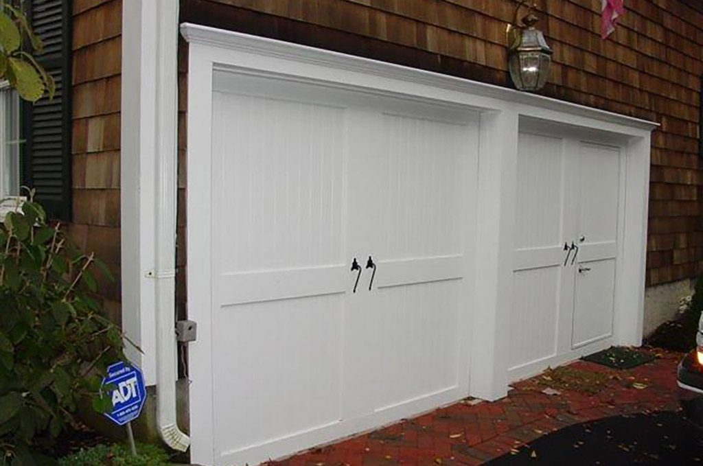 Custom Wood Face Garage Door